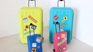 getlinkyoutube.com-How to Make Doll Luggage | Suitcase | Plus Darbie Show Beginnings