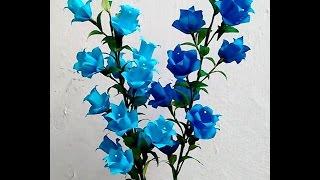 getlinkyoutube.com-Paper Flowers - Campanula / Canterbury Bells / Bell Flower (Flower # 61)