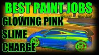 getlinkyoutube.com-GTA 5 Online: SECRET Car Colors - SLIME, GLOWING Pink, CHARGE! RARE Paint Jobs (GTA V)