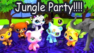 getlinkyoutube.com-LPS Jungle New Years Eve Party Littlest Pet Shop Wild Safari Elephant Toy Cookieswirlc