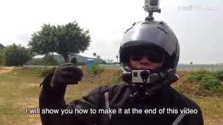 getlinkyoutube.com-GOPRO Gimbal Stabilizer on Helmet for Motorcycle