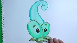 getlinkyoutube.com-Dibujando a Vaina mágica (Plants vs Zombies) - Drawing a magical Pod
