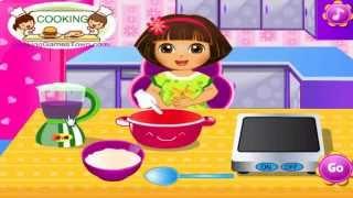 getlinkyoutube.com-دورا الطباخة ( عمل ايس كريم دورا ) العاب كرتون للاطفال 2015