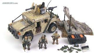 getlinkyoutube.com-Mega Bloks Call of Duty Light Firebase (Humvee) set review!