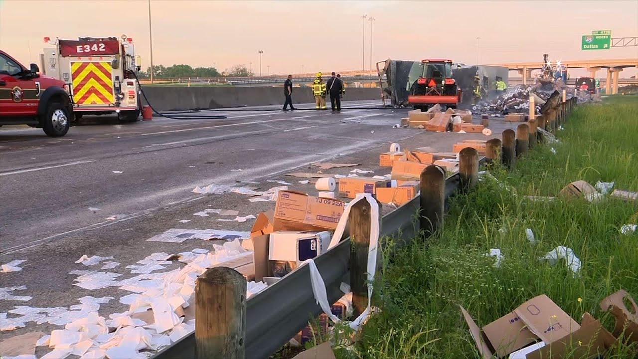 Toilet Paper Overflows Onto The Interstate