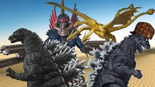 getlinkyoutube.com-Godzilla Stop Motion Parody Cartoons