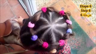 getlinkyoutube.com-easy Hairstyles girl,  Coiffures faciles pour fille,Cute Girls Hairstyles تسريحة الشعر القصير