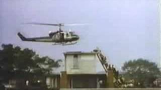 Chopper Evacuates U.S. Embassy in Saigon