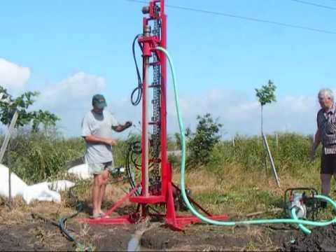Water well drilling rig part2 - Instalatie forat puturi de apa
