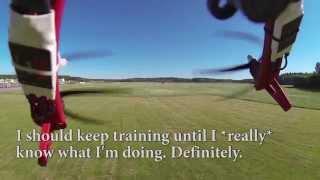 getlinkyoutube.com-DJI F550 Hexacopter crash after failed loop attempt, burning LiPo battery