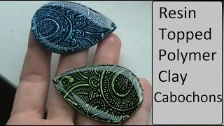 getlinkyoutube.com-ArtResin topped polymer clay cabochons Tutorial/DIY