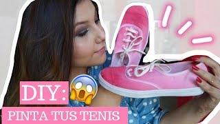 getlinkyoutube.com-DIY: pinta tus tenis con un efecto ombré!  ♥Fer Carrasco♥