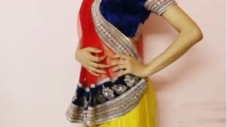 getlinkyoutube.com-How To Wear Lehanga Saree:Drape Lehngha Saree Style/Lehenga Sari