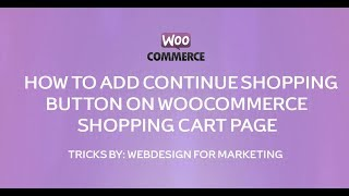 Continue Shopping Link on Cart Page
