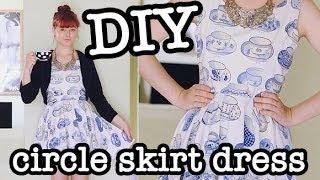 getlinkyoutube.com-DIY Circle Skirt Dress (aka Skater Dress)