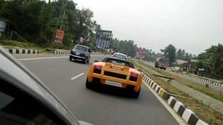 getlinkyoutube.com-Lamborghini chased by i20 at chalakkudi HD