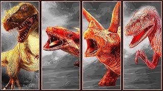 getlinkyoutube.com-Dino Fight: T-Rex Vs. Ankylosaurus Vs. Triceratops Vs. Velociraptor | Eftsei Gaming