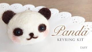 getlinkyoutube.com-Panda Keyring Kit - Needle Felt Tutorial with ASMR