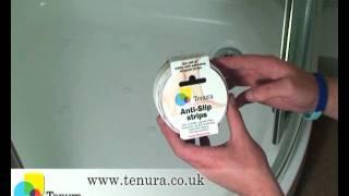 getlinkyoutube.com-Tenura Aqua Safe Anti Slip Bath and Shower Stickers: Application.