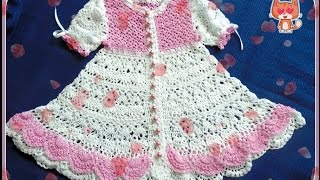 Платье для девочки крючком ГОДЕЦИЯ . Часть 2 - юбка и рюши. Dress for a little girl crochet