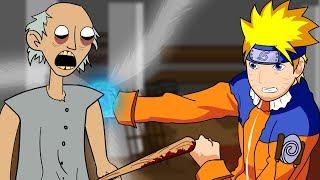 Granny The Horror Game Animation  3   Naruto Vs Scary Granny