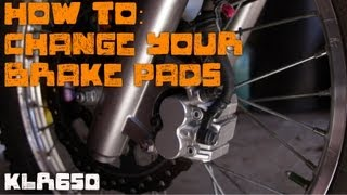 getlinkyoutube.com-How To: Brake Pad Change KLR650
