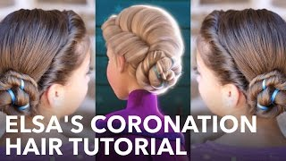 getlinkyoutube.com-Elsa's Frozen Coronation Hairstyle Tutorial