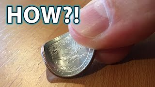getlinkyoutube.com-How to BEND a COIN with FINGERS! Magic Trick!