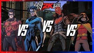 getlinkyoutube.com-WWE 2K14 S2E5 - Tim Drake VS Nightwing VS Red Hood VS Damian Wayne (Extreme Rules)