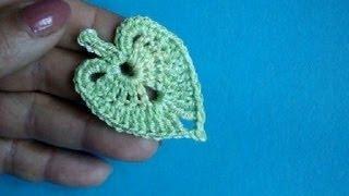 getlinkyoutube.com-Вязание крючком Урок 313 Листики липы How to crochet linden leaf