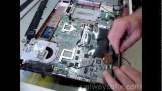 getlinkyoutube.com-Laptop blackscreen reflow GPU HP dv9000