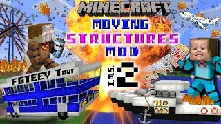 getlinkyoutube.com-MINECRAFT MOVING STRUCTURES! Bus, Boat, Plane, Movie Theater | Instant Massive Structures 2 Mod