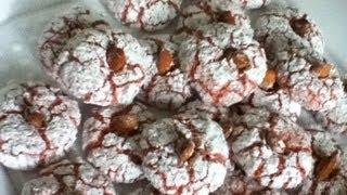 getlinkyoutube.com-gateau aux amandes ultra facile غربية(macarons maghrebins) Almond cookies