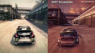 getlinkyoutube.com-DiRT 3 vs DiRT Showdown - Battersea Comparison