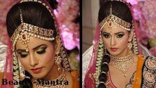 getlinkyoutube.com-Wedding Makeup - Amrapali Bridal Look - Complete Hair And Makeup