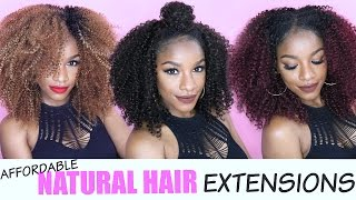 getlinkyoutube.com-Natural Hair Extensions | 5 EASY & AFFORDABLE WAYS ft. Outre Big Beautiful Hair