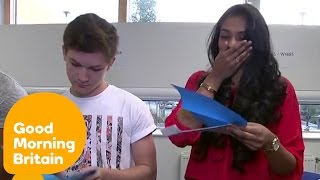 Students Open Their A Level Results Live On TV   Good Morning Britain