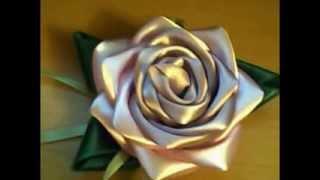 getlinkyoutube.com-Jak zrobić różę z wstążki