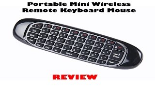 getlinkyoutube.com-LYNEC C120 2.4G 6 Axis Portable Mini Wireless Remote Keyboard/Mouse Review
