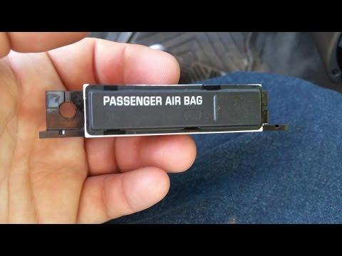 06-08 Pontiac Grand Prix - How to remove the Passenger Air Bag Indicator