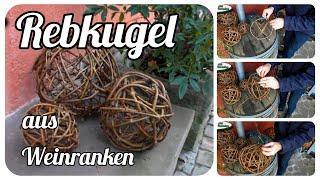getlinkyoutube.com-Gartentipp Oktober 1005 Rebkugeln aus Ranken vom wilden Wein flechten