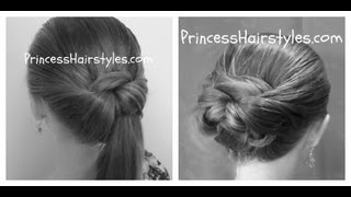 getlinkyoutube.com-Tuck And Wrap Bun Or Ponytail - Easy Hairstyles