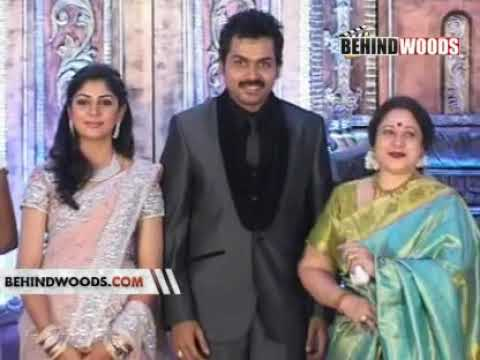 Karthi Wedding Reception Full Video bw