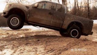 getlinkyoutube.com-2013 Ford F-150 Raptor SVT Supercab pickup truck - Offroading video
