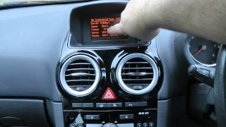 getlinkyoutube.com-Vauxhall / Opel Hidden Temperature, Battery Voltage, Remaining fuel Display