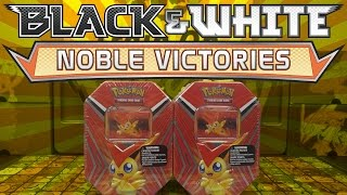 getlinkyoutube.com-FULL ART N HUNT! Opening 2 Victini Black and White Tins Of Pokemon Cards! 10 Noble Victories Packs!