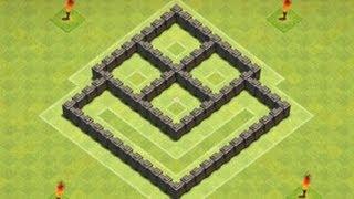 getlinkyoutube.com-Clash of Clans - TH4 Farming Base 2