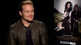 getlinkyoutube.com-OUTLANDER: Sam Heughan Talks Scars, Lallybroch and a Life-Changing Reveal