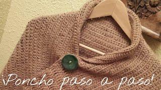 getlinkyoutube.com-Poncho to crochet step -by - step