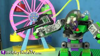 getlinkyoutube.com-Play-Doh Peppa Pig Robot Battle Lego Mator Surprise Egg 70814 Construct-o-Mech